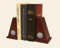 New Jersey Institute of Technology Bookends - Silver Engraved Medallion Bookends