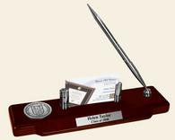New Jersey Institute of Technology Desk Pen Set - Silver Engraved Medallion Desk Pen Set
