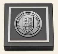 New Jersey Institute of Technology Paperweight - Silver Engraved Medallion Paperweight