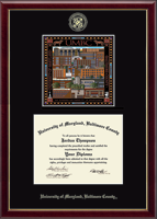 University of Maryland, Baltimore County Diploma Frame - Campus Scene Diploma Frame in Galleria