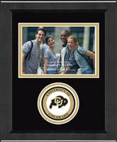 University of Colorado Boulder Photo Frame - Lasting Memories Circle Logo Photo Frame in Arena
