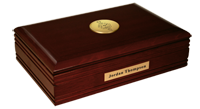 Gamma Theta Upsilon Desk Box - Gold Engraved Medallion Desk Box