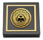 Missouri Baptist University Paperweight - Gold Engraved Medallion Paperweight