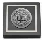 Eastern Mennonite University Paperweight - Silver Engraved Medallion Paperweight