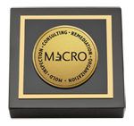 Mold Inspection Consulting and Remediation Organization Paperweight - Gold Engraved Medallion Paperweight