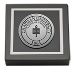 Chapman University Paperweight - Silver Engraved Medallion Paperweight