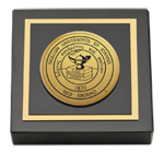 St. John's University, New York Paperweight - Gold Engraved Medallion Paperweight