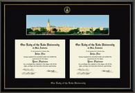 Our Lady of the Lake University Diploma Frame - Gold Embossed Double Diploma Campus Scene Frame in Onyx Gold