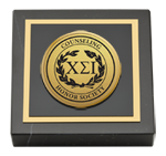 Chi Sigma Iota Counseling Honor Society Paperweight - Gold Engraved Medallion Paperweight