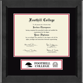 Foothill College Diploma Frame - Lasting Memories Banner Diploma Frame in Arena