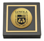 Loyola University Chicago Paperweight - Gold Engraved Medallion Paperweight