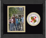 University of Maryland, Baltimore County Photo Frame - Lasting Memories Circle Logo Photo Frame in Arena