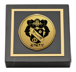 Sigma Nu Paperweight - Gold Engraved Medallion Paperweight