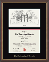 The University of Georgia Diploma Frame - Lithograph Diploma Frame in Williamsburg