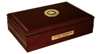 Texas A&M University - Commerce Desk Box - Gold Engraved Medallion Desk Box