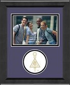 Delta Mu Delta Photo Frame - Lasting Memories Circle Logo Photo Frame in Arena