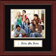 Delta Mu Delta Photo Frame - Lasting Memories Banner Photo Frame in Sierra