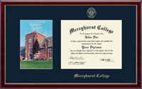 Mercyhurst College Erie Diploma Frame - Campus Scene Diploma Frame in Galleria