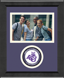 Abilene Christian University Photo Frame - Lasting Memories Circle Logo Photo Frame in Arena