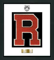 Ridgefield High School in Connecticut Varsity Letter Frame - Varsity Letter Frame in Omega