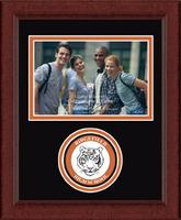 Ridgefield High School in Connecticut Photo Frame - Lasting Memories Circle Logo Photo Frame in Sierra