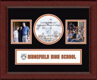 Ridgefield High School in Connecticut Photo Frame - Lasting Memories Banner Collage Photo Frame in Sierra