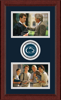 Pennsylvania State University Photo Frame - Lasting Memories Double Circle Logo Photo Frame in Sierra