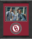 The University of Oklahoma Photo Frame - Lasting Memories Circle Logo Photo Frame in Arena