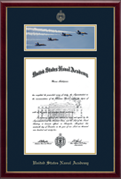 United States Naval Academy Diploma Frame - Campus Scene Diploma Frame - The Blue Angels in Galleria