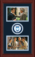 The University of Maine Orono Photo Frame - Lasting Memories Double Circle Logo Photo Frames in Sierra
