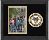 United States Military Academy Photo Frame - Lasting Memories Circle Logo Photo Frame in Arena
