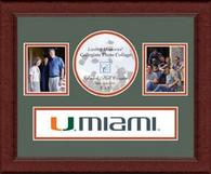 University of Miami Photo Frame - Lasting Memories Banner Collage Photo Frame in Sierra