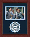 Saint Ambrose University Photo Frame - Lasting Memories Circle Logo Photo Frame in Sierra