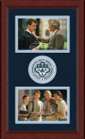 Saint Ambrose University Photo Frame - Lasting Memories Double Circle Logo Photo Frame in Sierra