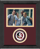 Florida State University Photo Frame - Lasting Memories Circle Logo Photo Frame in Arena