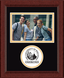 University of Wisconsin Oshkosh Photo Frame - Lasting Memories Circle Logo Photo Frame in Sierra