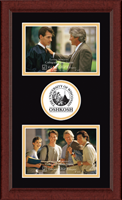 University of Wisconsin Oshkosh Photo Frame - Lasting Memories Double Circle Logo Photo Frame in Sierra