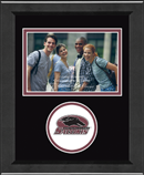 Southern Illinois University Carbondale Photo Frame - Lasting Memories Circle Logo Photo Frame in Arena