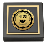 Saint Louis Priory School Paperweight - Gold Engraved Medallion Paperweight