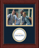 Gallaudet University Photo Frame - Lasting Memories Circle Logo Photo Frame in Sierra