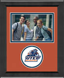 University of Texas at El Paso Photo Frame - Lasting Memories Circle Logo Photo Frame in Arena