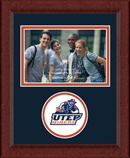 University of Texas at El Paso Photo Frame - Lasting Memories Circle Logo Photo Frame in Sierra