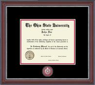 The Ohio State University Diploma Frame - Pewter Masterpiece Diploma Frame in Kensington Silver