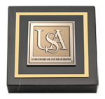 University of South Alabama Paperweight - Masterpiece Medallion Paperweight