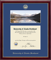 University of Alaska Southeast Diploma Frame - Campus Scene Diploma Frame in Galleria
