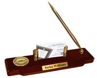 Florence-Darlington Technical College Desk Pen Set - Engraved Medallion Desk Pen Set - Web Only