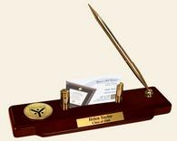Yale University Desk Pen Set - Gold Engraved Medallion Desk Pen Set - Grad School of Arts & Sciences