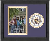 University of Northern Iowa Photo Frame - Lasting Memories Circle Logo Photo Frame in Arena