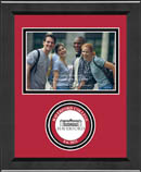 Haverford College Photo Frame - Lasting Memories Circle Logo Photo Frame in Arena