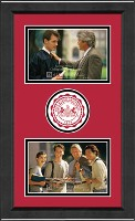 Lock Haven University Photo Frame - Lasting Memories Circle Logo Double Photo Frame in Arena